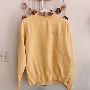 Brandy Melville John Galt Honey Sweatshirt